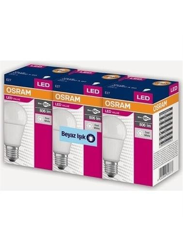 Osram Led Value 3 Lü Ampul Beyaz Işık 8.5 W 60Watt Renksiz